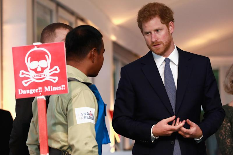 Prince Harry attends The Landmine Free World 2025 reception on International Mine Awareness Day: Getty Images