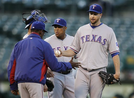 Parker's gem helps Athletics beat Rangers 12-1