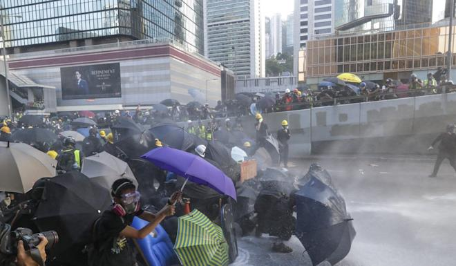 Protests in Hong Kong may be one reason for the choice of word. Photo: Edmond So