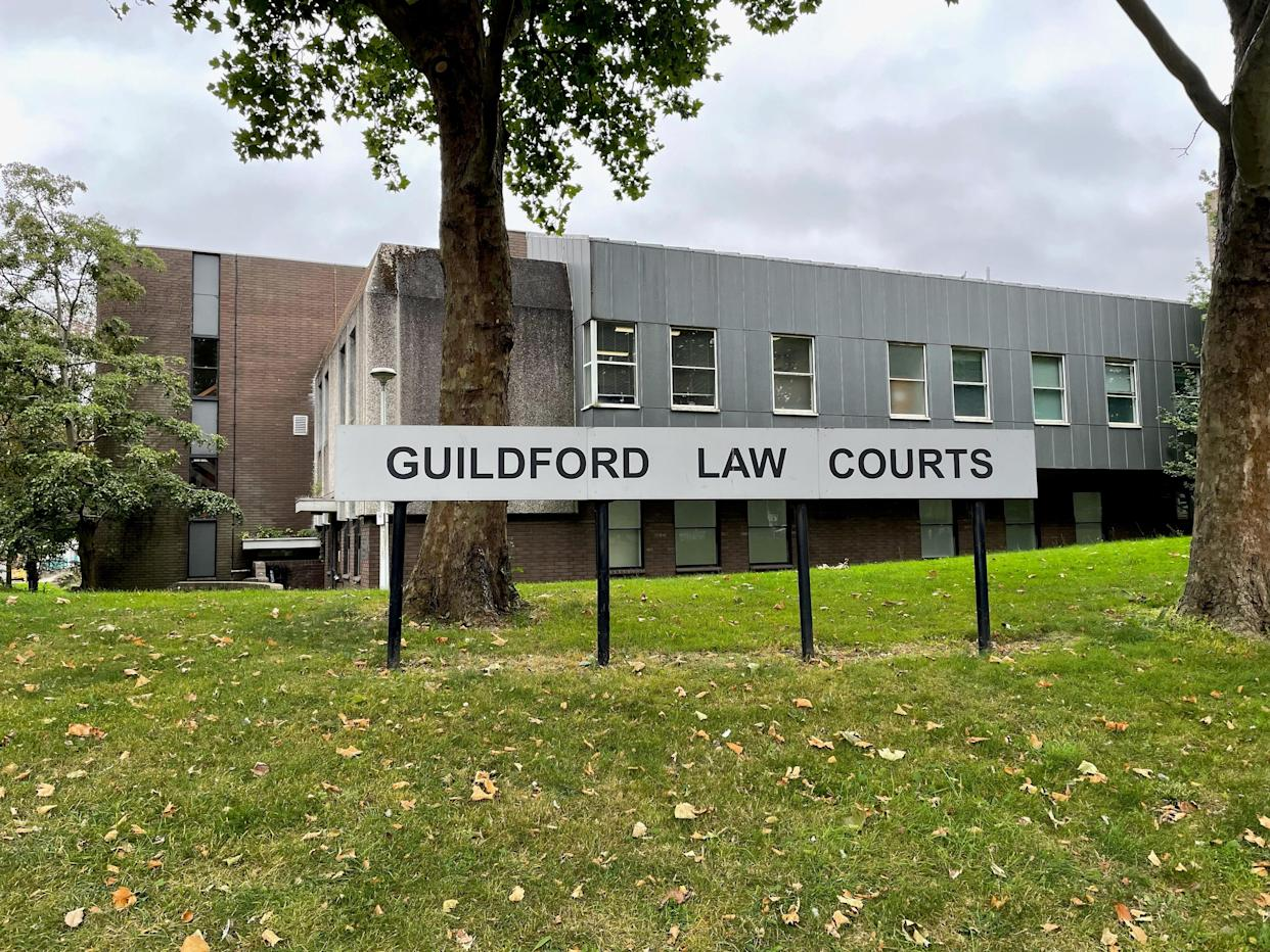Guildford Magistrates' Court in Guildford, Surrey, where Dane Messam appeared via videolink charged with murder (Laura Parnaby/PA).