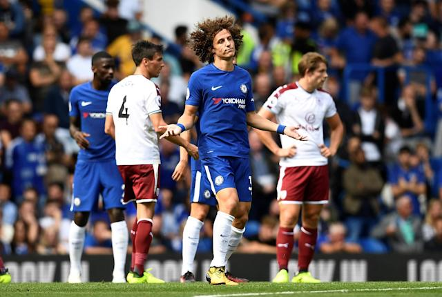"<a class=""link rapid-noclick-resp"" href=""/soccer/players/david-luiz/"" data-ylk=""slk:David Luiz"">David Luiz</a> and Chelsea couldn't have had a worse start to the 2017-18 Premier League season. (Reuters)"