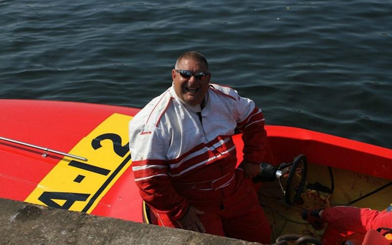 Kevin Edmondson, aged 53 from Kent, died last year on June 24 while competing in a powerboat race at the Offshore Circuit Racing Drivers Association (OCRDA) at West Bay, near Birdport, Dorset - WESSEX NEWS AGENCY