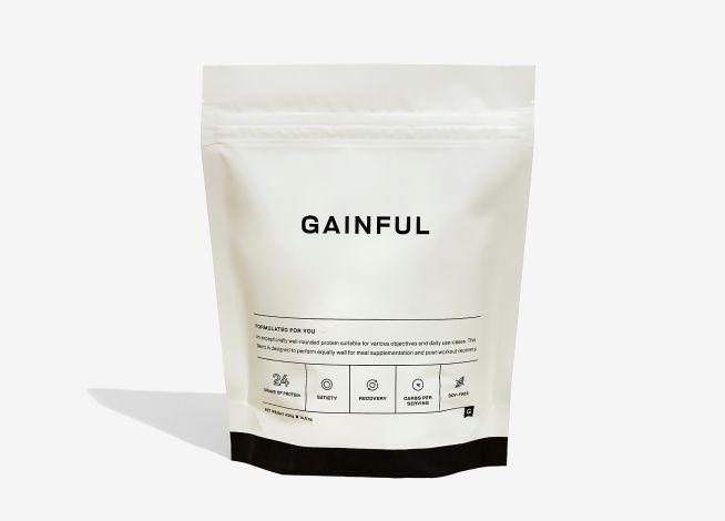 """<p><strong>Gainful</strong></p><p>Gainful</p><p><strong>$49.00</strong></p><p><a href=""""https://go.skimresources.com?id=74968X1525078&xs=1&url=https%3A%2F%2Fwww.gainful.com%2F"""" rel=""""nofollow noopener"""" target=""""_blank"""" data-ylk=""""slk:Shop Now"""" class=""""link rapid-noclick-resp"""">Shop Now</a></p><p>This<strong> subscription service allows you to personalize your protein powder</strong> based on your diet, body composition, lifestyle habits, and health goals. Gainful offers vegan blends based in pea protein and brown rice protein, and have options whether you are looking to gain weight or lose weight. Testers like that the protein powder comes unflavored with the option of adding single serve """"flavor boosts"""" so you can taste a new flavor everyday.</p>"""