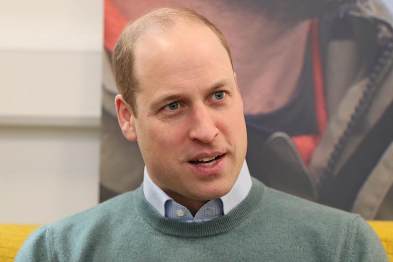 Britain's Prince William, Duke of Cambridge, talks with campaigners, teachers parents of young people who've been supported and coaches during a visit Jigsaw, the National Centre for Youth Mental Health, in Dublin on March 4, 2020 on the second day of their three day visit. (Photo by Brian Lawless / POOL / AFP) (Photo by BRIAN LAWLESS/POOL/AFP via Getty Images)