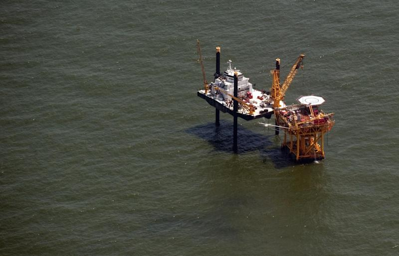 An offshore drilling rig sits in the Gulf of Mexico: AFP/Getty Images