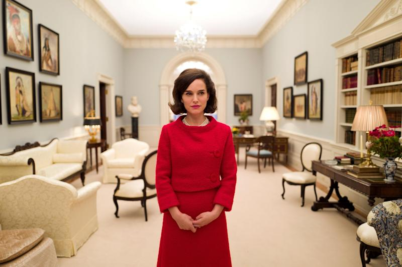 "This image released by the Toronto Film Festival shows Natalie Portman as Jackie Kennedy from the film, ""Jackie."" (Toronto Film Festival via AP)"