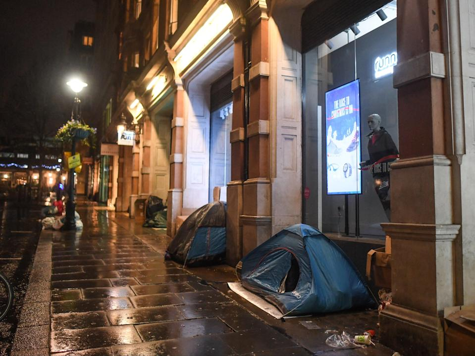 <p>Most people sleeping rough in England are male, aged over 26 years old and from the UK</p> (Getty)