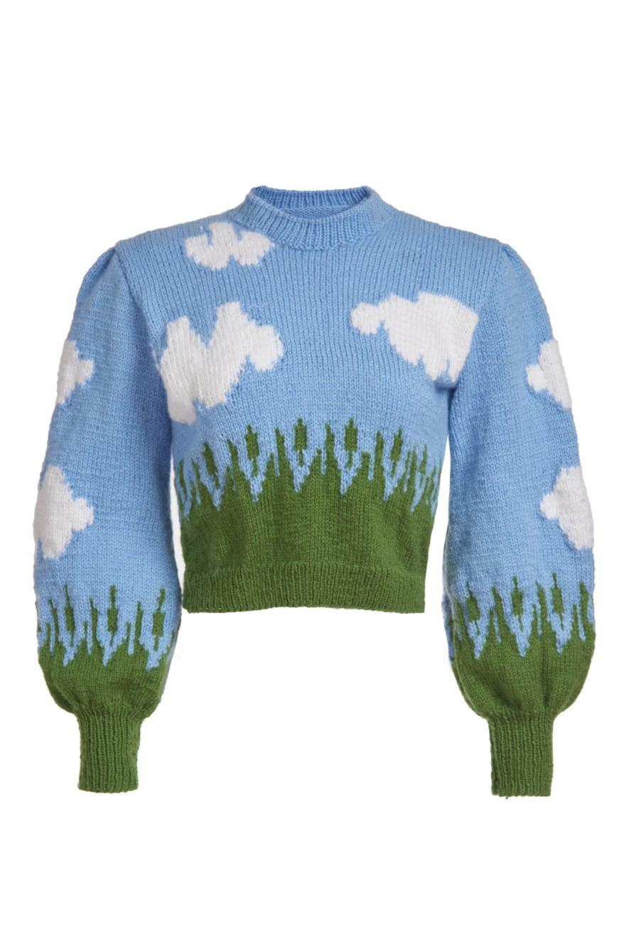 """<p><span>Lirika matoshi Cloud Sweater</span> ($270)</p> <p>""""I love the cloud print of this Lirika Matoshi sweater. The brand first gained traction with its adorable strawberry dress and this sweater just makes me smile."""" - NC</p>"""