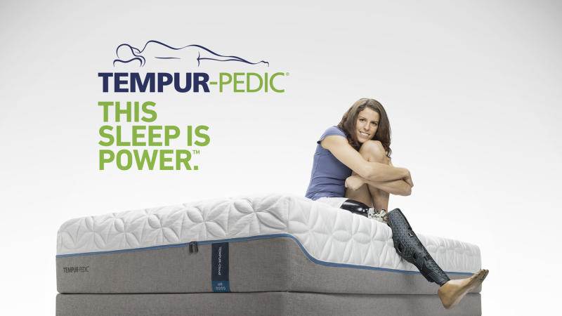 """Michelle Salt, a Paralympian, realtor and speaker is featured in the """"Tempur-Pedic Sleep Is Power"""" campaign where Tempur-Pedic owners share personal stories of the powerful effects that sleeping on a Tempur-Pedic has on their lives."""