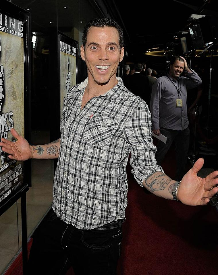"Steve-O of ""Jackass"" turns 37 Charley Gallay/<a href=""http://www.wireimage.com"" target=""new"">WireImage.com</a> - May 2, 2011"