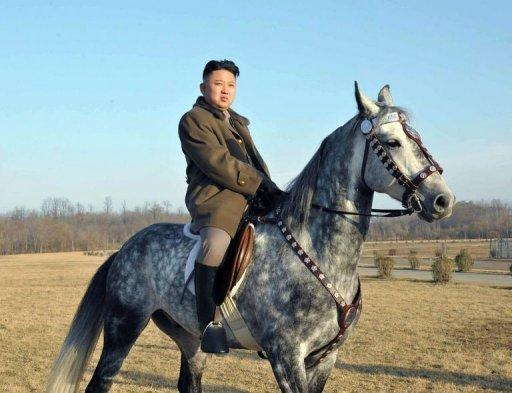 "<p>North Korean leader Kim Jong Un rides a horse as he inspects the training ground of a Korean People's Army Unit. Treating as genuine a story on Kim run by US website The Onion, China's People's Daily newspaper ran the satirical quotes about the ""Pyongyang-bred heartthrob"" in both Chinese and English as world news. It ran alongside a 55-image gallery opening with Kim astride a horse.</p>"