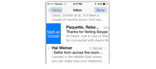 Mail updates in iOS 8