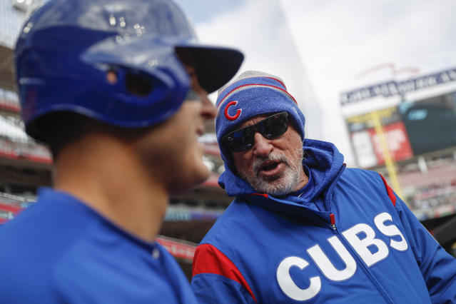 Cubs first baseman Anthony Rizzo doesn't like playing in the cold and believes a reduced baseball schedule is the answer. (AP)
