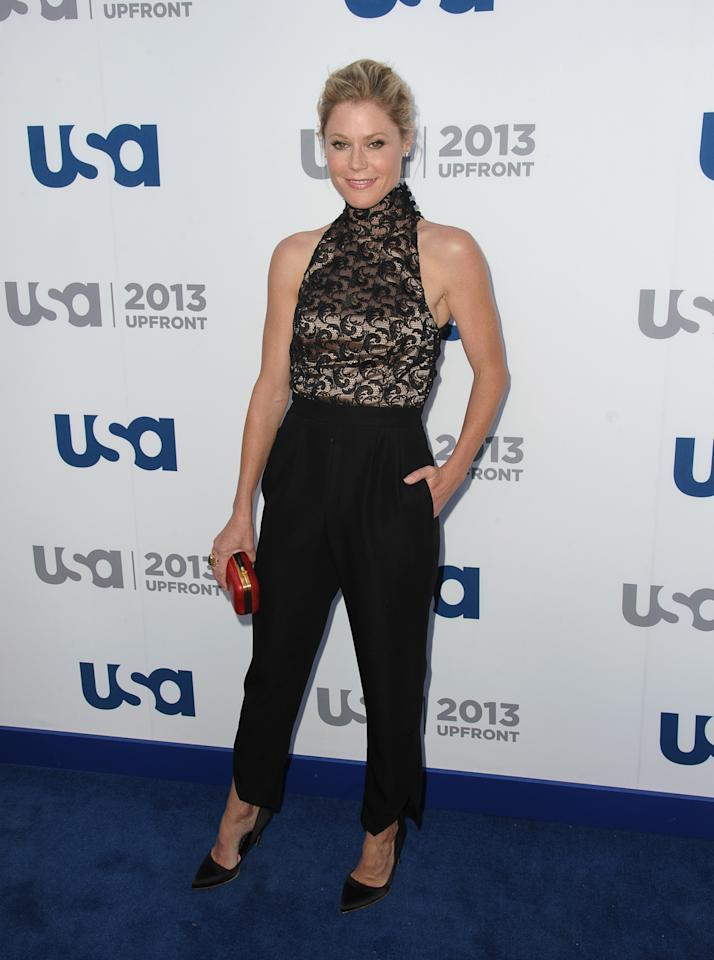 NEW YORK, NY - MAY 16:  Julie Bowen attends USA Network 2013 Upfront Event at Pier 36 on May 16, 2013 in New York City.  (Photo by Dave Kotinsky/Getty Images)