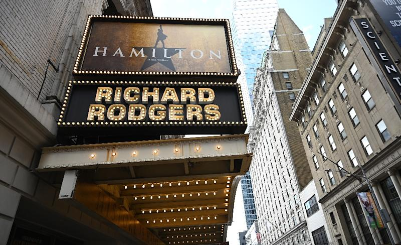 "Nearly four years after its Broadway premiere, ""Hamilton"" continues to sell out at the Richard Rodgers theater (AFP Photo/TIMOTHY A. CLARY)"