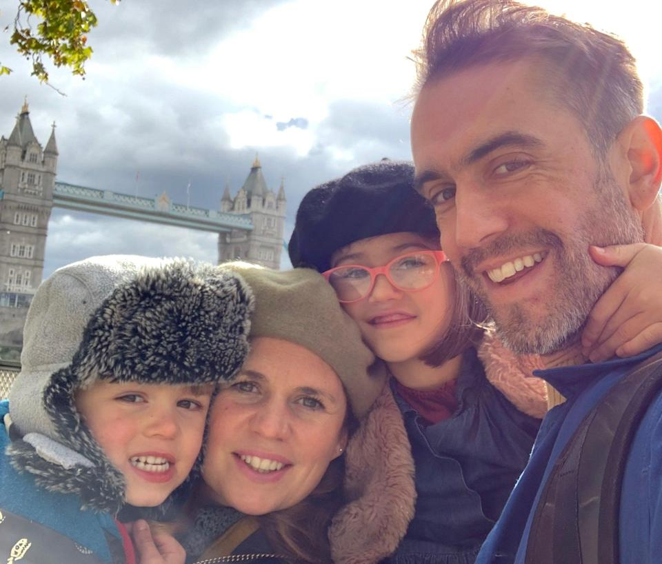 <p>London not calling: Jessie and Alastair Mills, with their children, Rufus and Ottilie, are loving village life in Bathampton</p> (Alastair Mills)