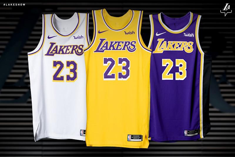 00938c0d2725 The Lakers  new uniforms have a  Showtime  throwback vibe