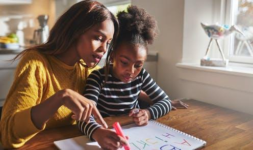 """<span class=""""caption"""">Parents revealed perceived oppressive treatment from health, social care, education, and criminal justice professionals.</span> <span class=""""attribution""""><a class=""""link rapid-noclick-resp"""" href=""""https://www.shutterstock.com/image-photo/little-black-girl-learning-read-alphabet-383235532"""" rel=""""nofollow noopener"""" target=""""_blank"""" data-ylk=""""slk:Flamingo Images/Shutterstock"""">Flamingo Images/Shutterstock</a></span>"""