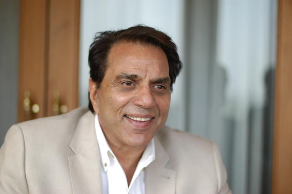 NEW ELHI, INDIA - JUNE 27, 2007: Bollywood actor Dharmendra poses during a photoshoot, on June 27, 2007 in New Delhi, India. (Photo by Raj K Raj/Hindustan Times via Getty Images)