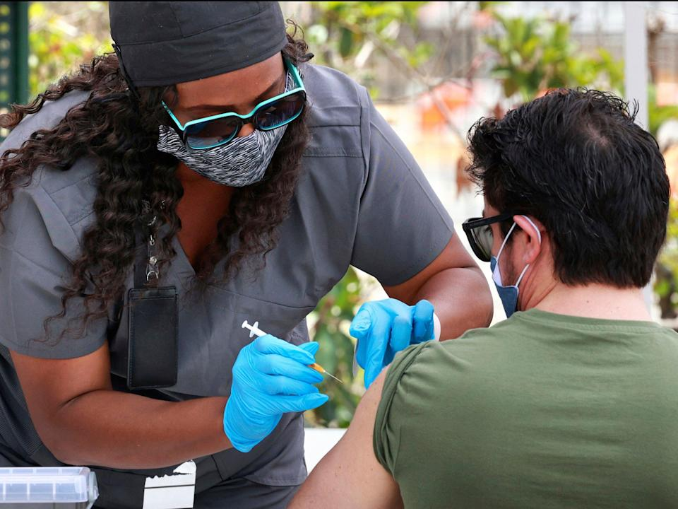 Covid vaccinations taking place in California, US (AP)