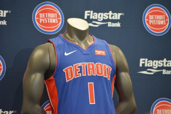 pretty nice ac910 a88ae Detroit Pistons, Flagstar Bank Sign Jersey Sponsorship Deal