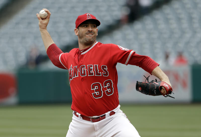 What's next for Matt Harvey after being designated for assignment by the Angels? (AP Photo/Marcio Jose Sanchez)