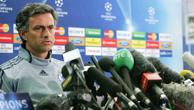 <p>The self-confessed 'Special One' arrived at Chelsea as a Champions League winner with Porto in the summer of 2004. By December the Blues were top of the Premier League, and by March they had won the League Cup - beating Liverpool 3-2 in extra-time.</p> <br><p>May saw Mourinho secure the west London club their first league title in 50 years; in doing so Chelsea set a record points haul of 95 and conceded the least amount of goals in a season (15). </p> <br><p>The current Manchester United manager then backed that up with a second successive Premier League title, and his fourth domestic title in a row. After receiving his medal, he promptly threw it into the crowd at Stamford Bridge, along with a replacement he was given straight after. </p>