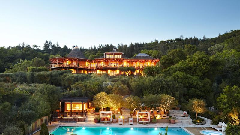 Auberge du Soleil in Napa. The hotel brand has teamed up with luxury travel company Black Tomato to design a series of curated road trips among their various properties.