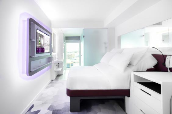 A premium queen room at Yotel (Yotel)