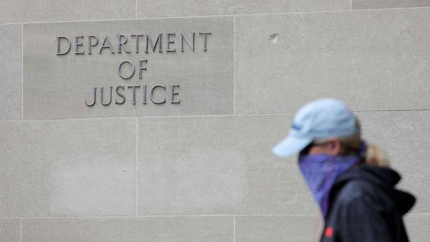 The Department of Justice headquarters in Washington, D.C., May 10, 2021. (Andrew Kelly/Reuters)