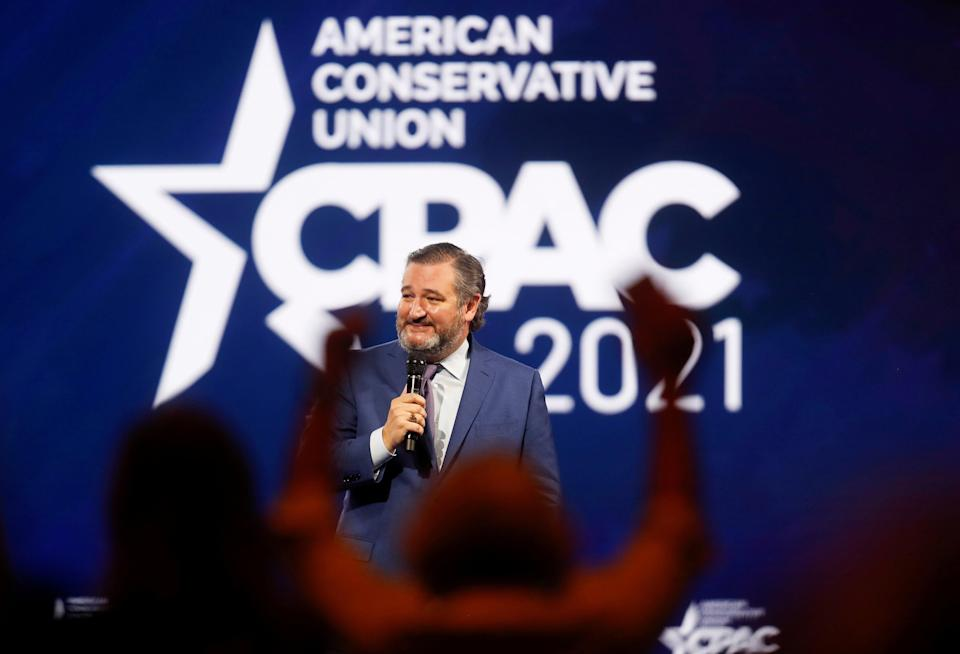 U.S. Sen. Ted Cruz of Texas speaks at the Conservative Political Action Conference (CPAC) in Orlando, Florida, U.S. February 26, 2021. REUTERS/Octavio Jones     TPX IMAGES OF THE DAY (REUTERS)