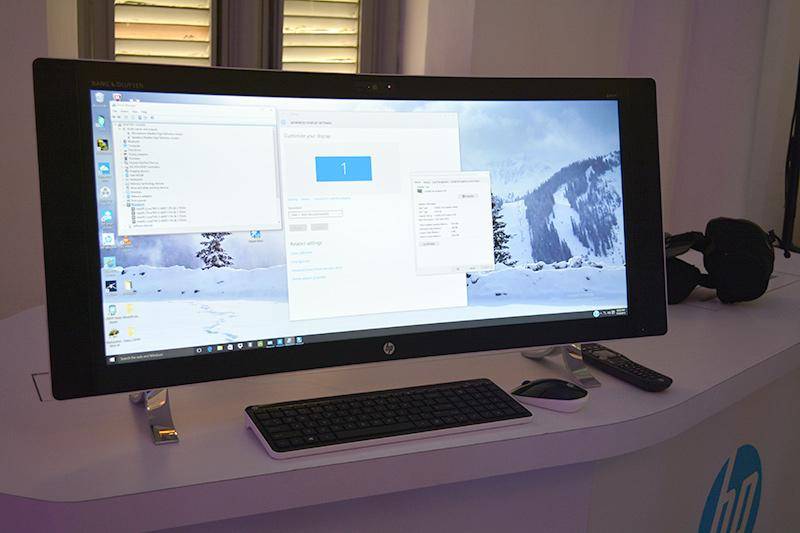 an aio pc with a gorgeous 34 inch curved display hp just unveiled