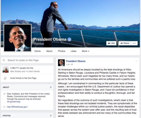 Facebook Issues Video Guidelines After Castile Shooting: 'Their Lives Matter': Obama Issues Lengthy Statement On