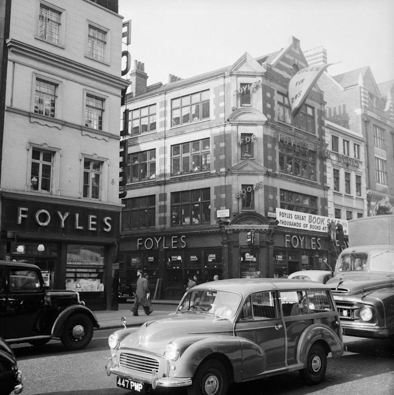 Foyles books hop in 1958 (Getty Images)