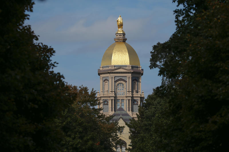 The University of Notre Dame has fought against the contraceptive mandate for years.  (Michael Hickey via Getty Images)