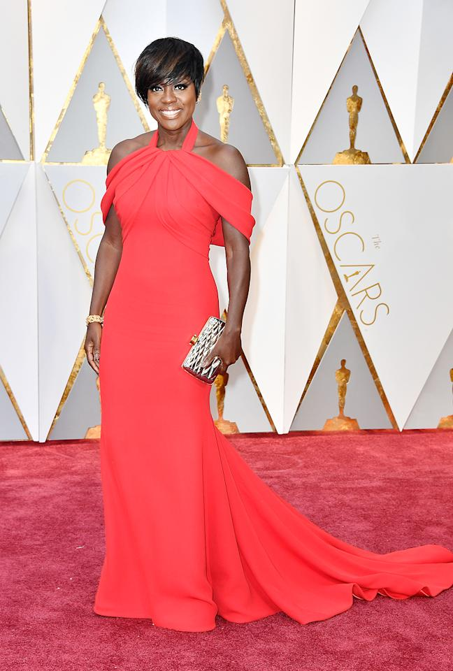 "<p>Viola Davis attends the 89th Annual Academy Awards at Hollywood & Highland Center on February 26, 2017 in Hollywood, California. (Photo by Frazer Harrison/Getty Images)<br /><br /><a rel=""nofollow"" href=""https://www.yahoo.com/style/oscars-2017-vote-for-the-best-and-worst-dressed-225105125.html"">Go here to vote for best and worst dressed.</a> </p>"