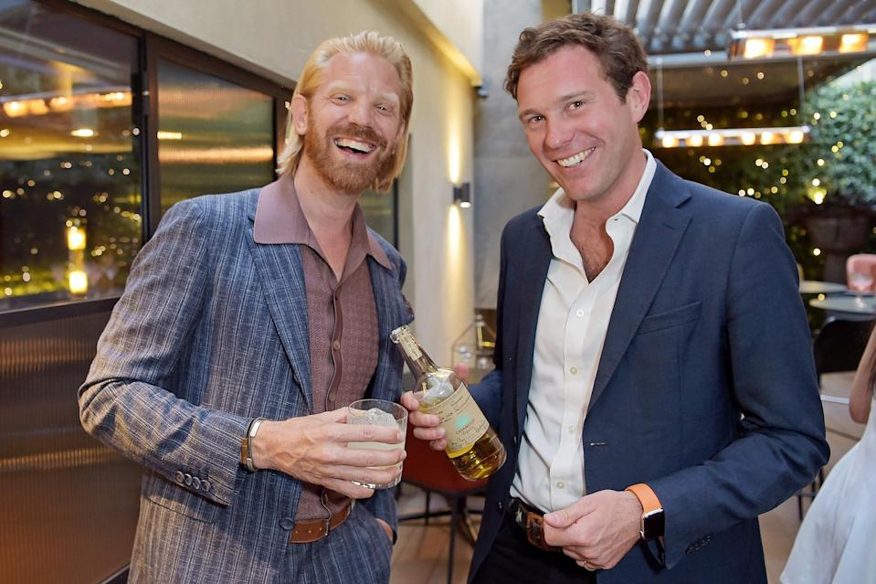 """<p>Princess Eugenie and her husband Jack Brooksbank have plenty to celebrate as new parents to son August. When they do have a celebratory toast, it will likely involve some Casamigos tequila, for which Jack works as a brand ambassador.</p> <p><strong>Casamigos Blanco Tequila, <a href=""""https://click.linksynergy.com/deeplink?id=93xLBvPhAeE&mid=2025&murl=https%3A%2F%2Fwww.wine.com%2Fproduct%2Fcasamigos-blanco-tequila%2F530925&u1=PEOFitforaKing10FathersDayGiftIdeasInspiredbytheRoyalFamilypetitsRoyGal12746676202106I"""" rel=""""sponsored noopener"""" target=""""_blank"""" data-ylk=""""slk:$50"""" class=""""link rapid-noclick-resp"""">$50</a></strong></p>"""