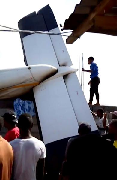 The plane crashed down in a densely populated part of Goma