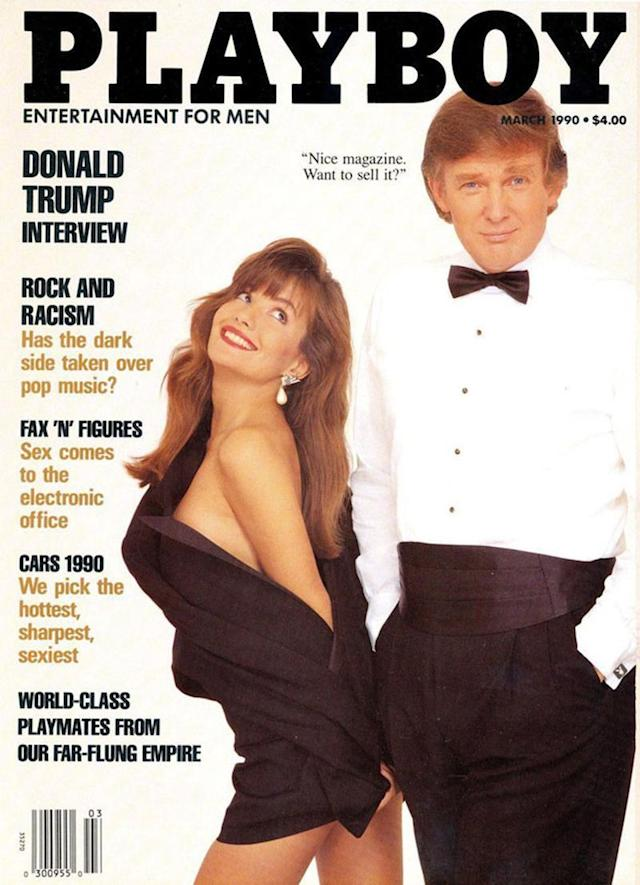 <p>Trump poses on the March 1990 issue of <em>Playboy</em> magazine. (Yahoo News) </p>