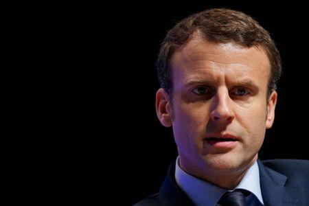 Emmanuel Macron, head of the political movement En Marche !, or Onwards !, and candidate for the 2017 French presidential election, attends the 71st annual congress of France's farmer's union group FNSEA in Brest, France