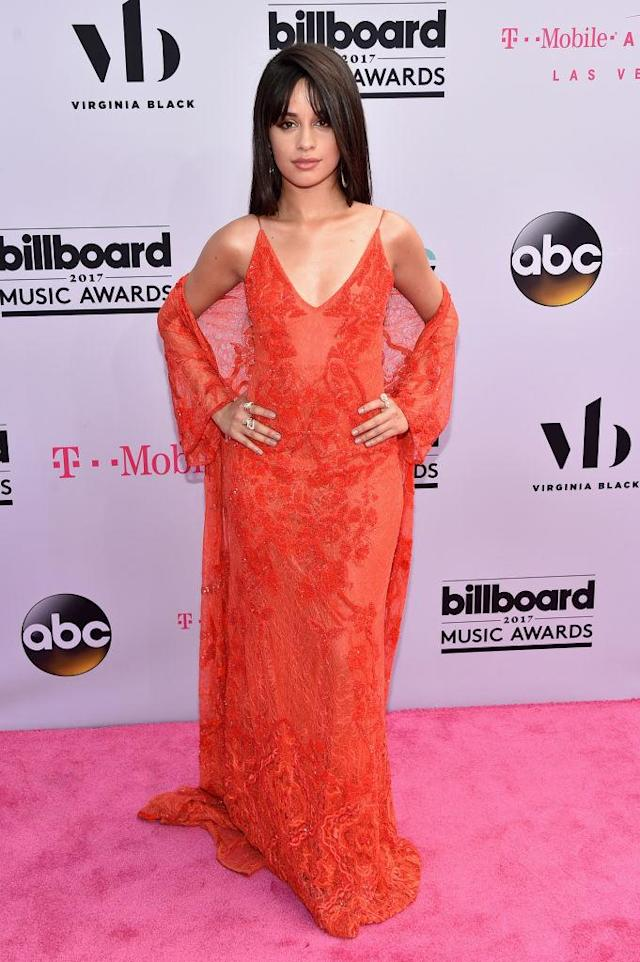 <p>The solo artist was seeing red in Jonathan Simkhai. (Photo: Getty Images) </p>