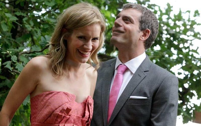 Kate Bussmann and husband - Alessandro Baglioni