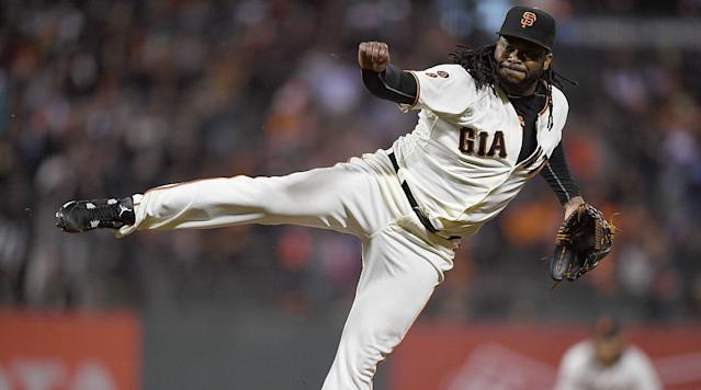 Staff ace Madison Bumgarner, who already delivered a championship, is coming off his best regular season showing to date, and while his pitching-and hitting-offer considerable entertainment value, that of rotation-mate Johnny Cueto may surpass it.
