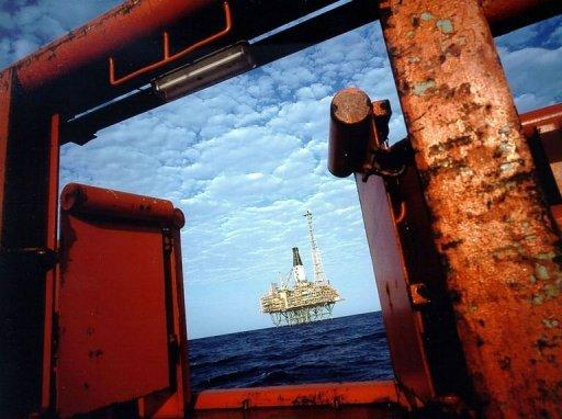 This file photo shows an Australian resources giant Woodside Petroleum's offshore gas production platform