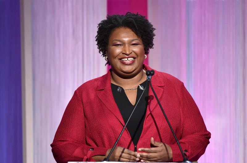 Stacey Abrams speaks onstage during The Hollywood Reporter's Power 100 Women in Entertainment on December 11, 2019 in Hollywood, Calif.
