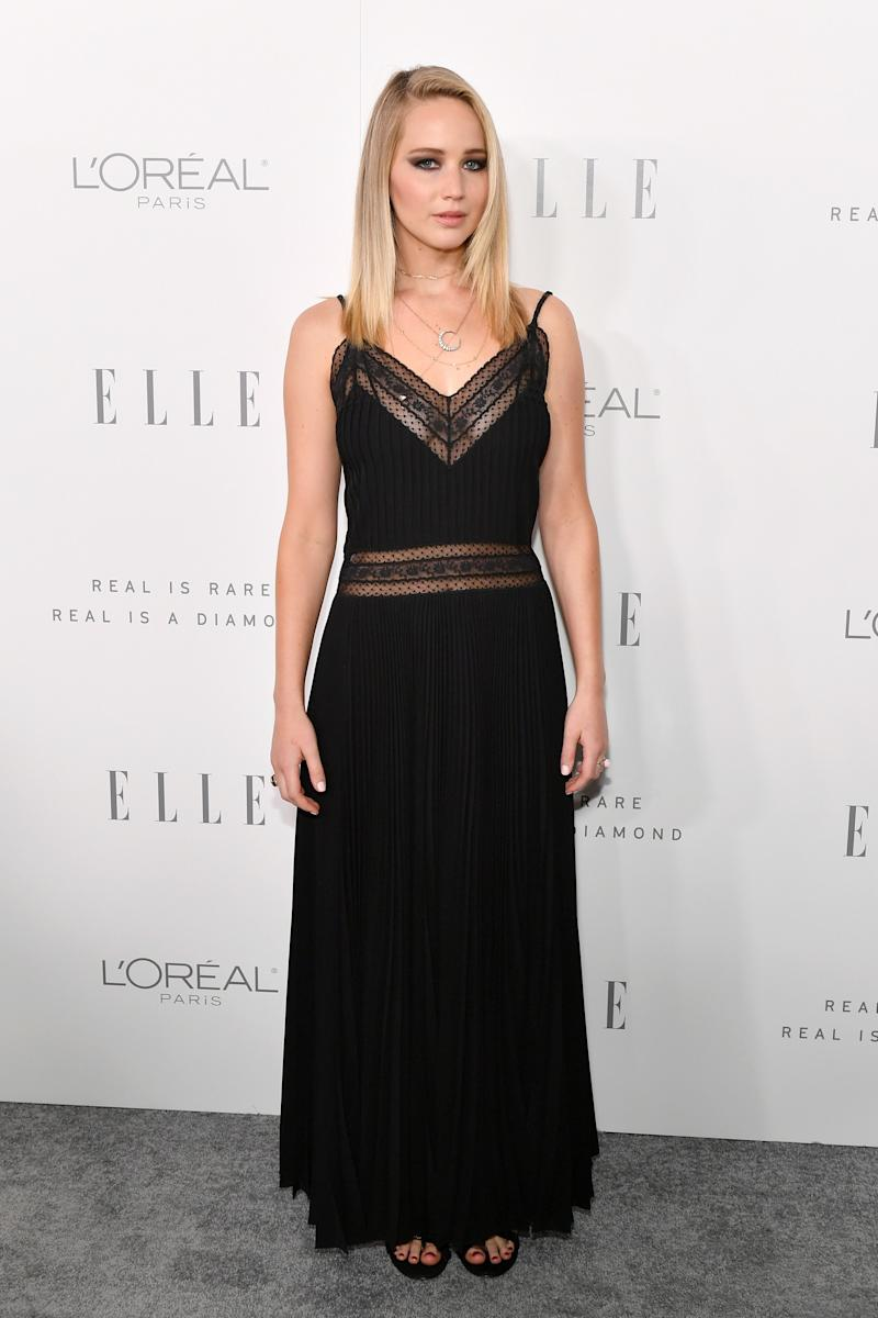 Jennifer Lawrence attends ELLE's 24th Annual Women in Hollywood Celebration. (Neilson Barnard via Getty Images)