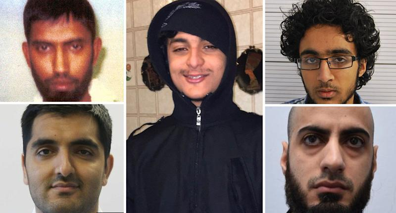 Five terrorists who, according to the Henry Jackson Society, are set to be freed from prison this year on early release
