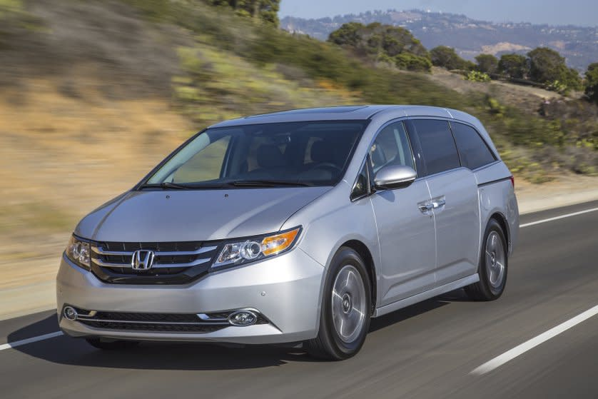 <p><b>Best Minivan: </b>The Honda Odyssey, aka the de facto soccer mom car, is a perfect 10 when it comes to winning awards every year of Edmunds' Retained Value rankings. Affordably prices at $35,144, it depreciates 39% over five years. (Honda-Wieck) </p>