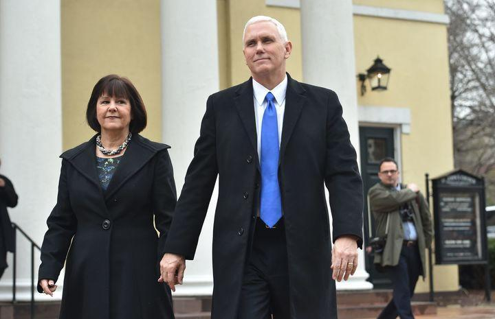 Vice President Mike Pence and his wife, Karen. (Photo: Nicholas Kamm/AFP)