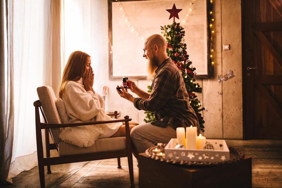 Popping the question at Christmas: Dream or nightmare? [Photo: Getty]